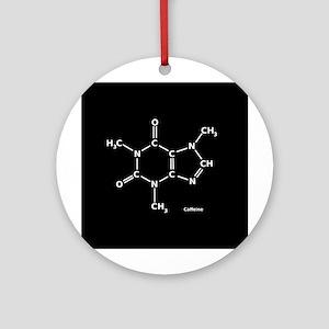 2D Caffeine Molecule Ornament (Round)