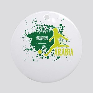 Football Worldcup Saudi Arabia Saud Round Ornament