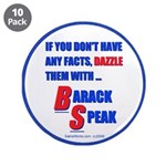 "Dazzle BS 3.5"" Button (10 pack)"