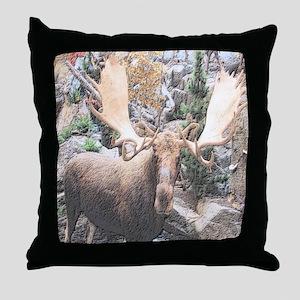 Decorative Moose Throw Pillow