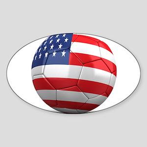 USA Soccer Ball Sticker (Oval)