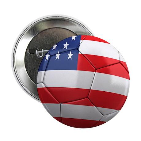 """USA Soccer Ball 2.25"""" Button"""