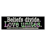 Love Unites Bumper Sticker