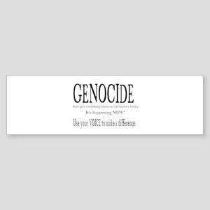 Genocide Bumper Sticker