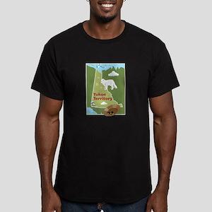 Yukon Map Men's Fitted T-Shirt (dark)