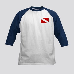 Have a Nice Dive w/ Flag Kids Baseball Jersey