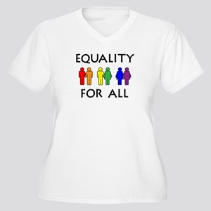 Equality Women's Plus Size V-Neck T-Shirt