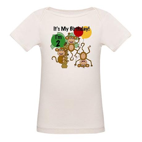 Monkey 2nd Birthday Organic Baby T-Shirt