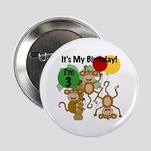 "Monkey 3rd Birthday 2.25"" Button"