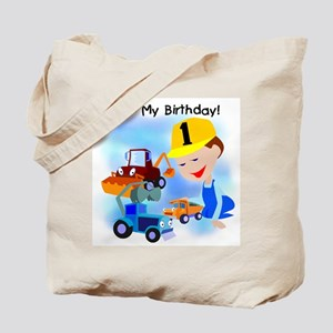 Construction 1st Birthday Tote Bag