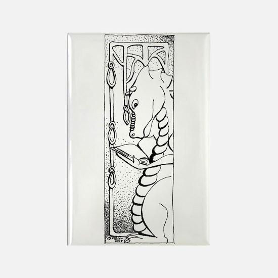 Dragon Reader Rectangle Magnet (100 pack)