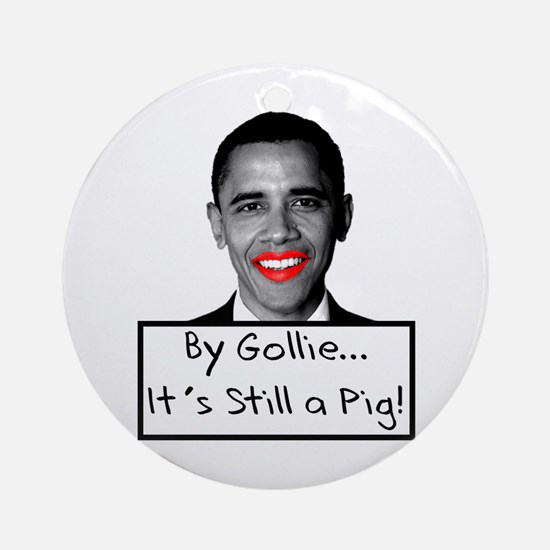 Lipstick on a Pig Ornament (Round)