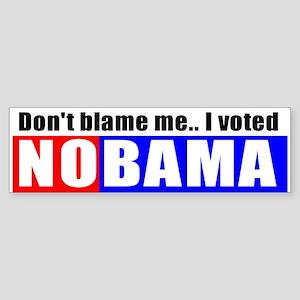 I voted NOBAMA Bumper Sticker