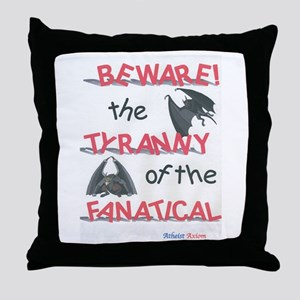 BEWARE! Throw Pillow