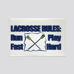 Lacrosse Rules! Rectangle Magnet