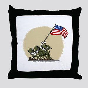 Boston Iwojima Throw Pillow