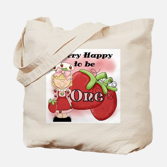 (Blond) Berry 1st Birthday Tote Bag