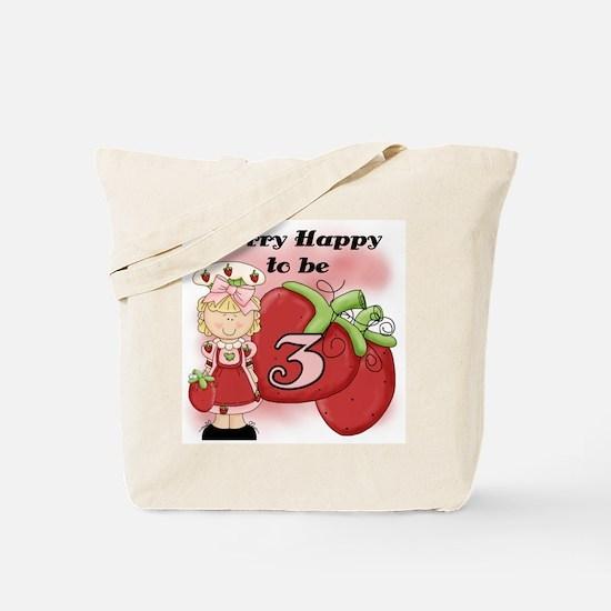 (Blond) Berry 3rd Birthday Tote Bag