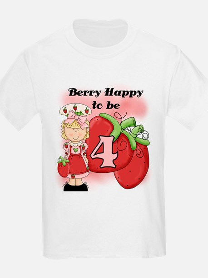 (Blond) Berry 4th Birthday T-Shirt