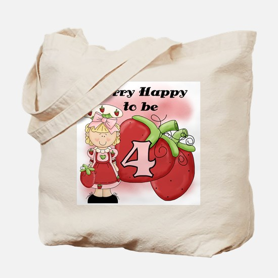 (Blond) Berry 4th Birthday Tote Bag