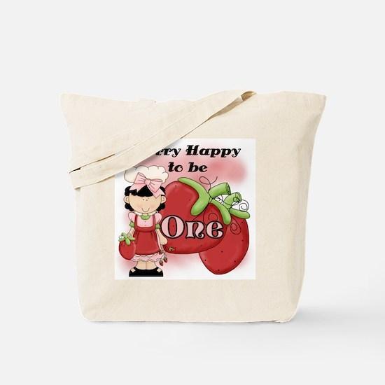 (Black) Berry 1st Birthday Tote Bag