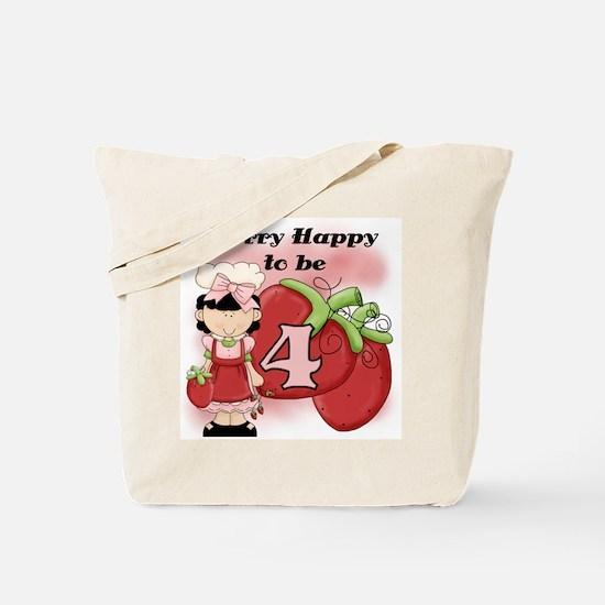 (Black) Berry 4th Birthday Tote Bag