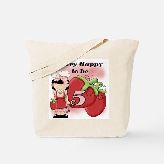 (Black) Berry 5th Birthday Tote Bag