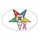 Teardrop OES BC Awareness Oval Sticker