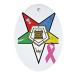 Teardrop OES BC Awareness Oval Ornament