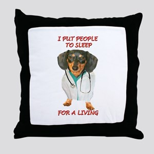 Anesthesiologist Throw Pillow