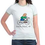 Ocean Beach, NY Jr. Ringer T-Shirt