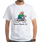 Ocean Beach, NY White T-Shirt