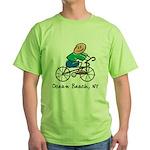 Ocean Beach, NY Green T-Shirt