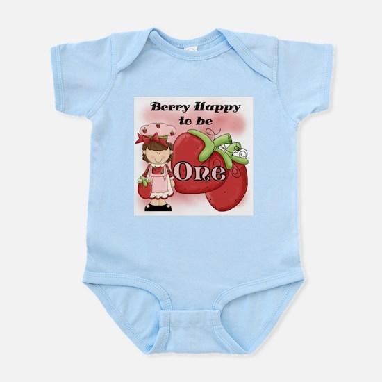 (Brunette) Berry 1st Birthday Infant Bodysuit
