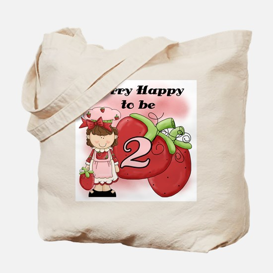 (Brunette) Berry 2nd Birthday Tote Bag