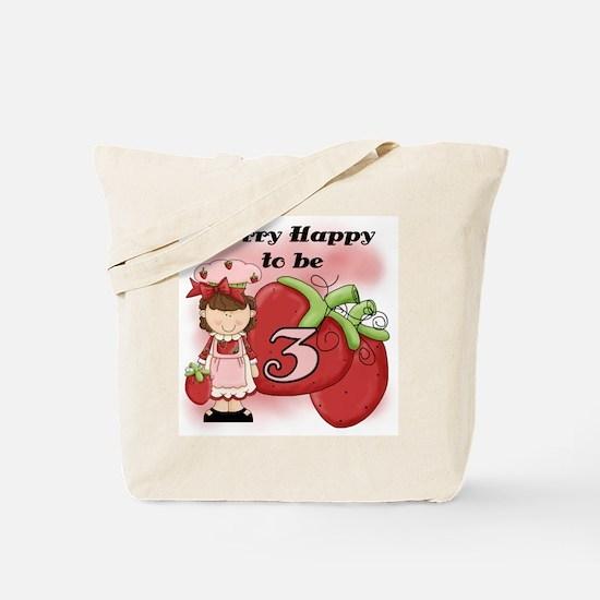 (Brunette) Berry 3rd Birthday Tote Bag
