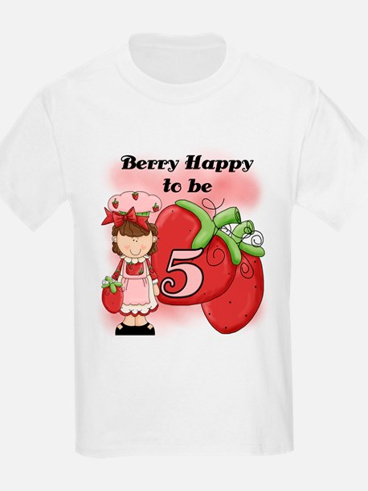 (Brunette) Berry 5th Birthday T-Shirt
