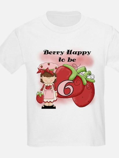 (Brunette) Berry 6th Birthday T-Shirt