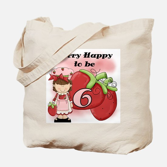(Brunette) Berry 6th Birthday Tote Bag