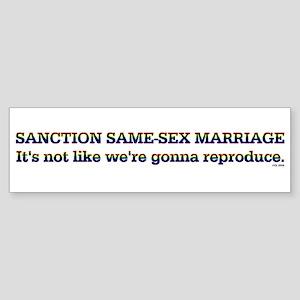 Pro-Same-Sex Bumper Sticker