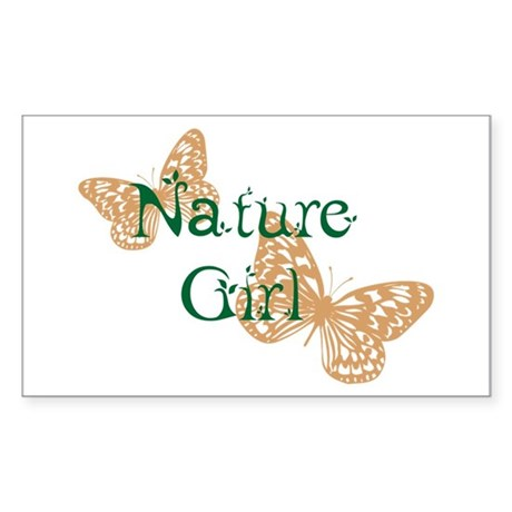 Nature Girl Butterfly Rectangle Sticker