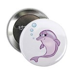 Cute Purple Dolphin With Bubbles 2.25