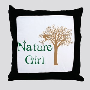 Nature Girl Butterfly Throw Pillow