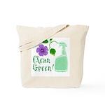 Clean Green Tote Bag