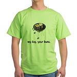 BBQ Grill Humor Green T-Shirt
