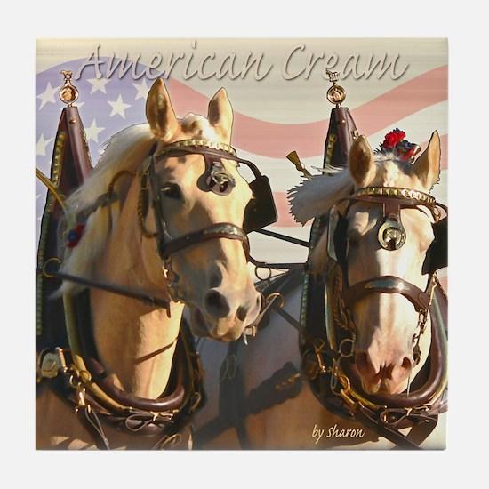 American Cream Team Tile Coaster