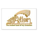 Aztlan Soul Rectangle Sticker 50 pk)