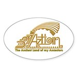 Aztlan Soul Oval Sticker (50 pk)
