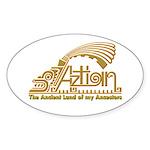 Aztlan Soul Oval Sticker (50 pk)