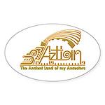 Aztlan Soul Oval Sticker